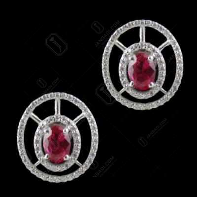 Corundum And Zircon Stone Casual Earrings