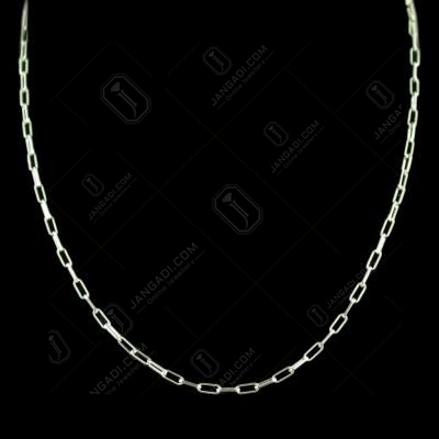 Silver Machine Made Fancy Chain