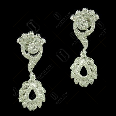 Zircon Stone Floral Design Party Wear Earrings
