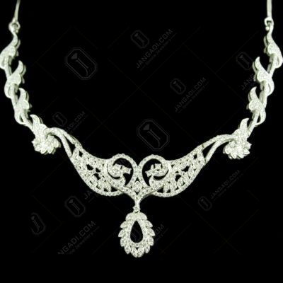 Zircon Stone Floral Design Party Wear Necklaces