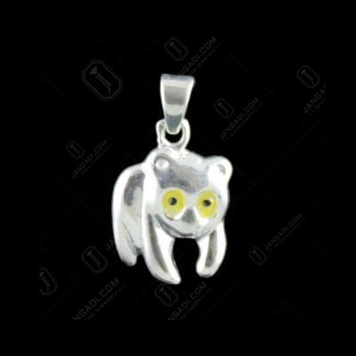 Silver Bear Design Pendant