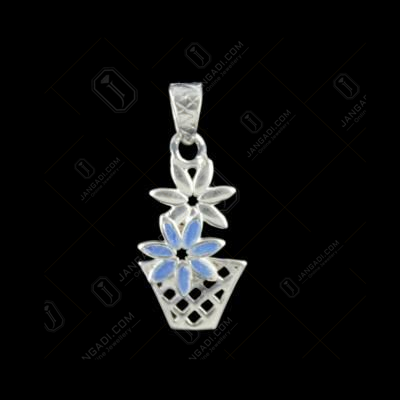 Silver Flower Pot Pendant