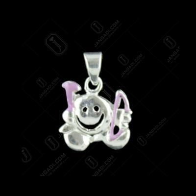 Silver Smiley Baby Pendant