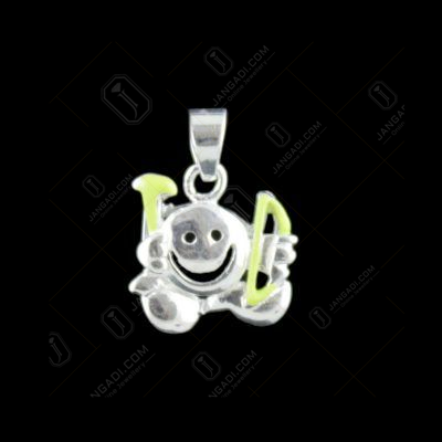 Silver Smiley Baby Pendant