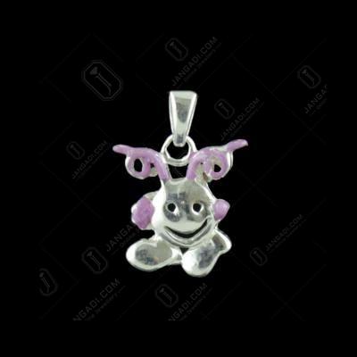 Silver Smaily Design Pendant