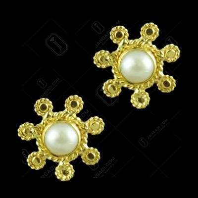 Gold Plated Pearl Tops Floral Earring