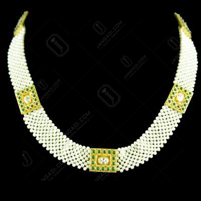 GOLD PLATED PEARL NECKLACE