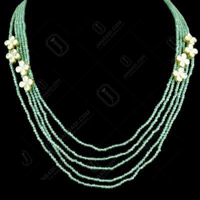 GOLD PLATED KUNDAN AND APPETITE BEADS NECKLACE