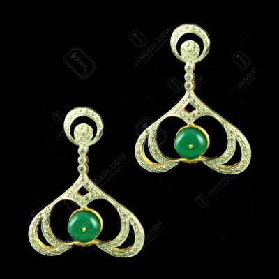 Gold Plated Floral Earrings studded Zircon Stones
