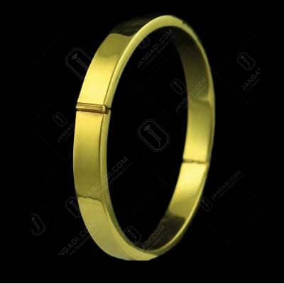 Gold Plated Plain Lock Bangle