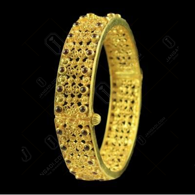 Gold Plated Flex Bangle Studded Semi precious Stones