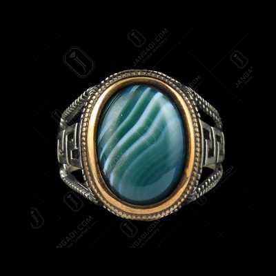 OXIDIZE MALACHITE RING