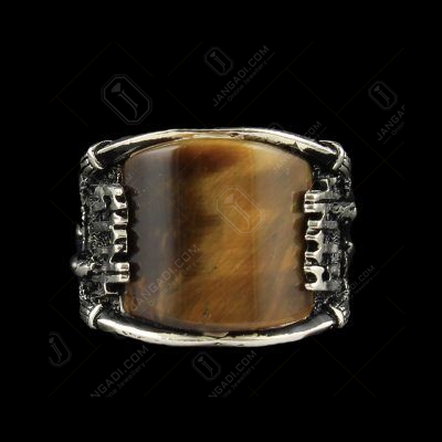 OXIDIZE TIGER EYE RING