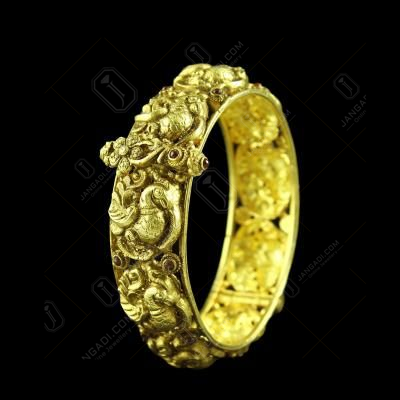 GOLD PLATED PEACOCK NAKASH BANGLE