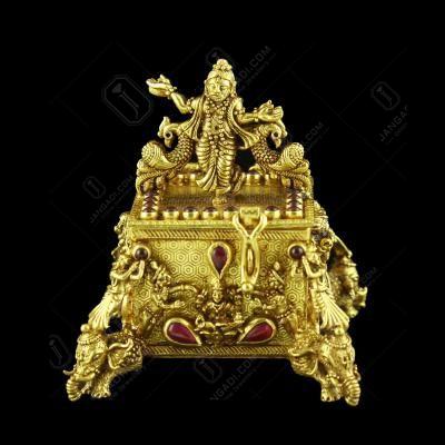 GOLD PLATED MULTI GOD KUMKUM BOX