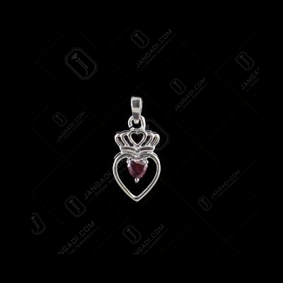 RED SWAROVSKI HEART PENDANT
