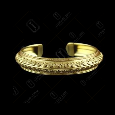 Gold plated fancy Kada