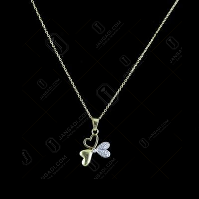 GOLD PLATED HEARTSHAPED NECKLACES