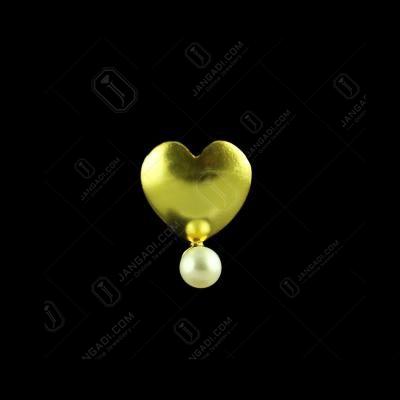 E5647 Sterling Silver Gold Plated Heart Shape Earrings