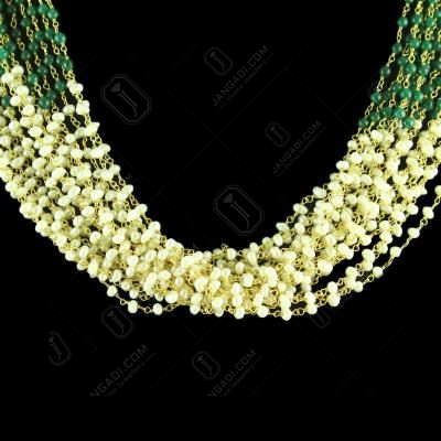 GOLD PLATED PEARLS BEAD STONES NECKLACES