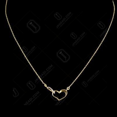 GOLD PLATED HEART SHAPE CZ NECKLACES