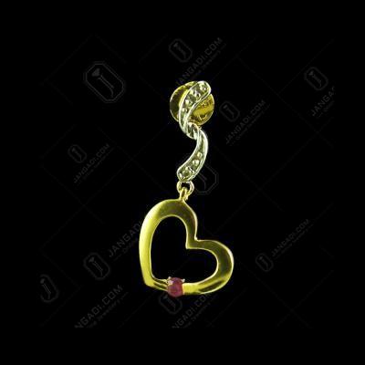 E3051 Sterling silver Heart Shape Earrings Studded Zircon Stones