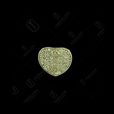 E1374 Sterling Silver Heart Shape Earrings  Studded Zircon Stones