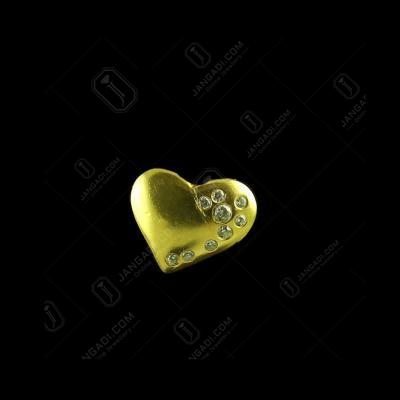 E5653 Sterling Silver Heart Shape earrings Studded Zircon Stones