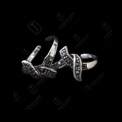 MARCASITE OXIDIZED SILVER TOE RINGS