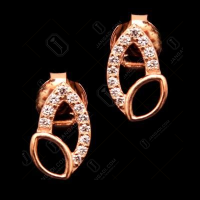 ROSE GOLD PLATED CZ EARRINGS