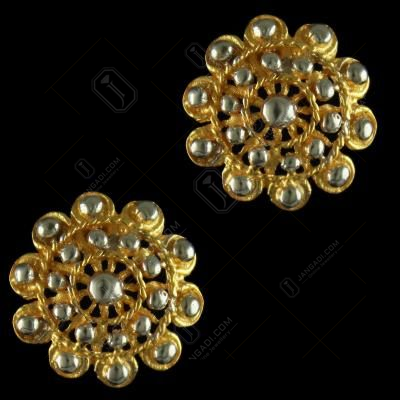 92.5 Sterling Silver Gold Plated Fancy Design Casual Earrings