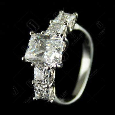 92.5 Sterling Silver Cocktail Finger Rings Studded Swarovski Stones