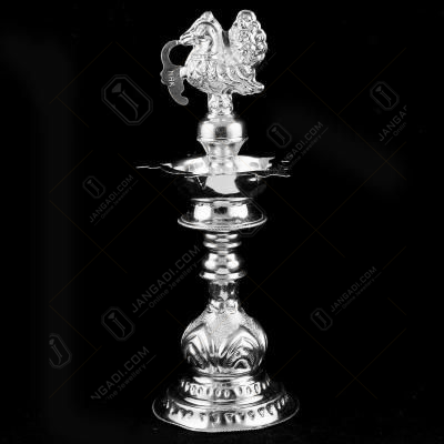 Silver Peacock Design Traditional Lamp