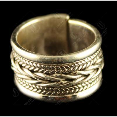 Silver Oxidized Casual Design Ring