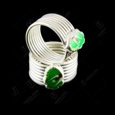 Enamel Design Band Type Toe Ring
