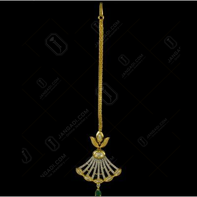 Silver Gold Plated Kundhan Design Tikka