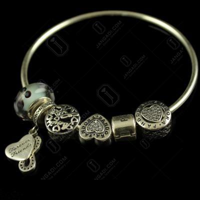 92.5 Sterling Silver Fancy Design Bangle Type Bracelets