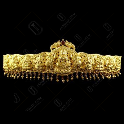 Silver Gold Plated God Design Oddiyanam Red Onyx Stones