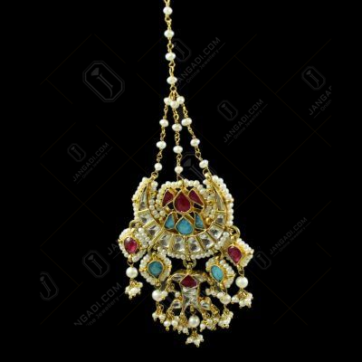 Silver Gold Plated Kuddan Stone Nethi Chutti or Tikka Pearl 3.5mPearl 2.5m Pearl 4.5m