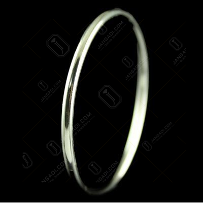 Sterling Silver Plain Bangle