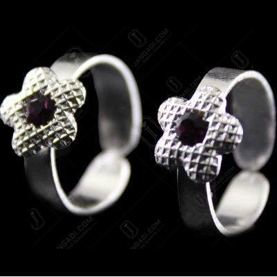 Silver Plated Fancy Design Toe Ring