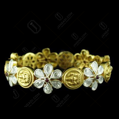 Gold Plated Polki Bangle