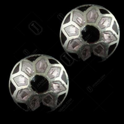 92.5 Silver Meena And Fancy Floral Earrings