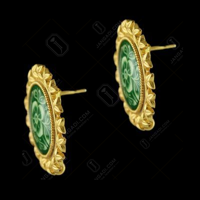 Gold Plated Hand Painting Casual Earring