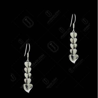 E5641 Sterling Silver Heart Shape Earrings